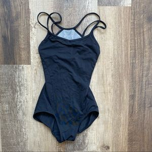 Strappy Cut-Out Mesh Back One Piece Swimsuit